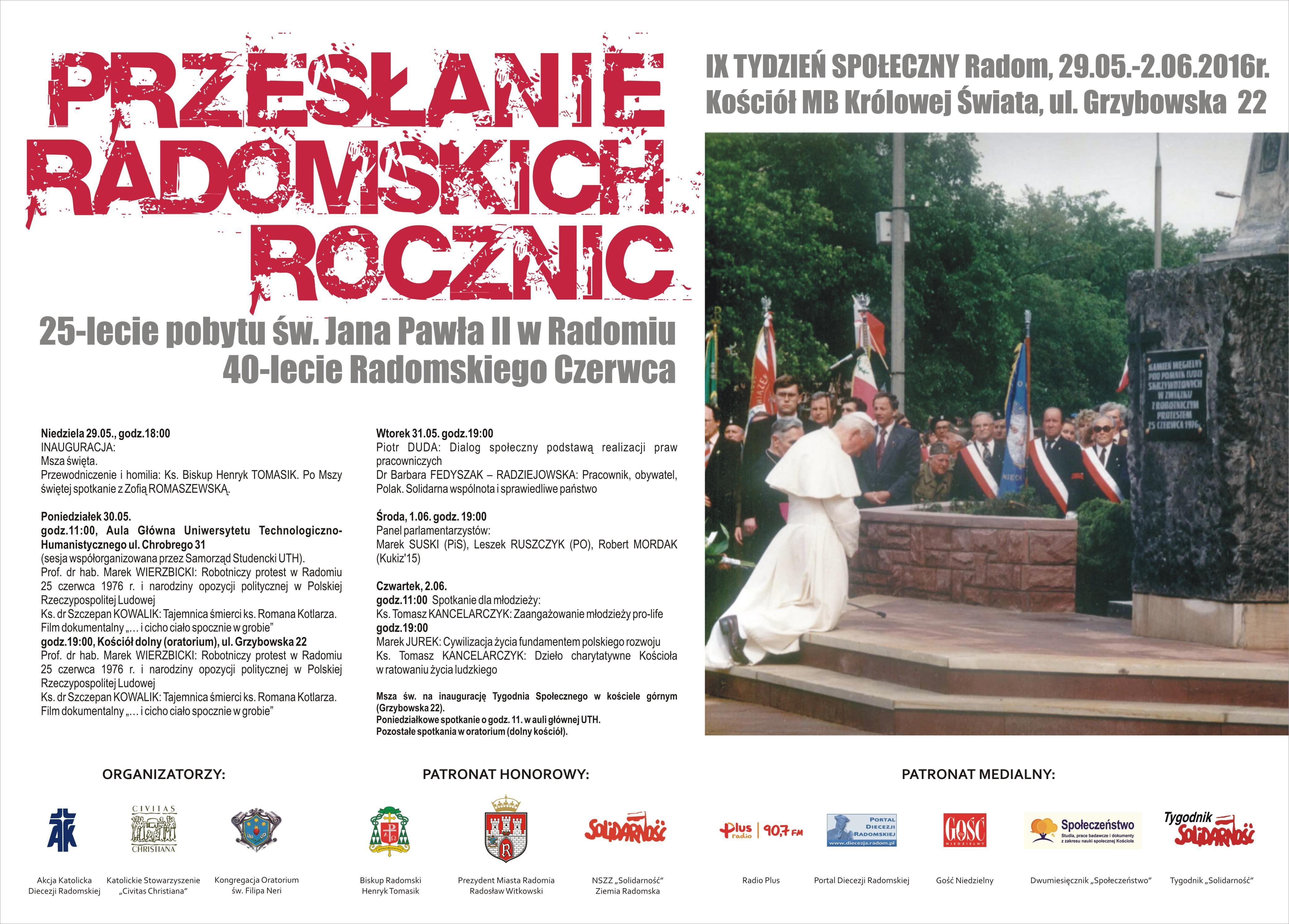 EEEEIX Tydzień Społeczny, czyli pięć dni uczciwej debaty o Radomiu, Polsce i Europie
